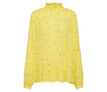 Bluse 'Heba Smock' gelb / naturweiß