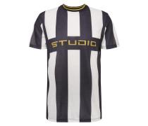 Shirt 'FB Studio Stripe' schwarz / weiß