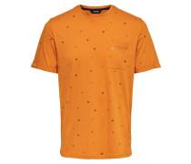 Bedrucktes T-Shirt orange