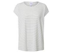 T-Shirt 'ava Plain' blau / weiß