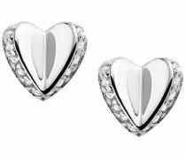 Ohrringe 'Herz' silber