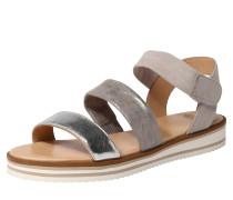 Sandale 'Durban' taupe / silbergrau