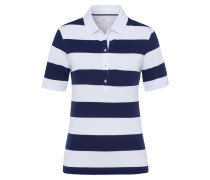 Poloshirt 'Cleo' nachtblau / weiß