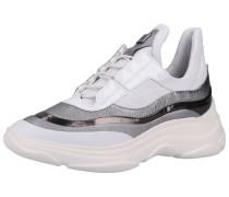 Sneaker honig / silber / weiß