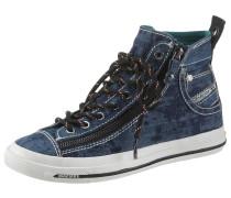 Sneaker blue denim / schwarz