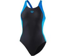 'Ren' Badeanzug blau / schwarz