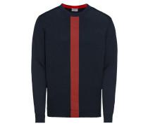 Pullover 'col block cn' dunkelblau / rot