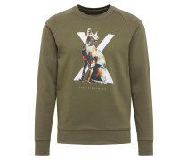 Sweatshirt 'Green Sphynx'