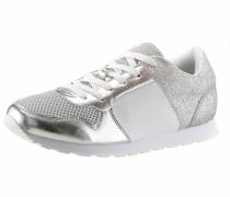 Sneaker silber / weiß