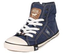 Hohe Sneaker aus Canvas blue denim