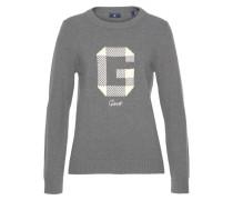 Pullover dunkelgrau / wollweiß