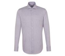Hemd lavendel / weiß