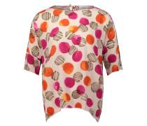 Bluse creme / braun / orange / dunkelpink