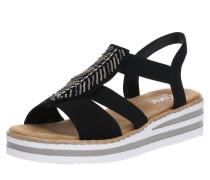 Sandale 'v02C1-00' schwarz / silber