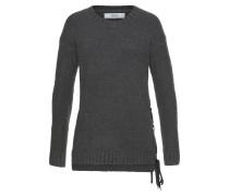 Pullover 'Masche' dunkelgrau / schwarz