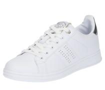 Sneakers silber / weiß