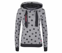 Kapuzensweatshirt graumeliert / schwarz
