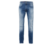 Jeans im Used-Style 'Anbass' blue denim