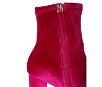 Samt-Stiefelette 'Avenue' pink