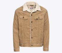 Jeansjacke 'sherpa Jacket' beige