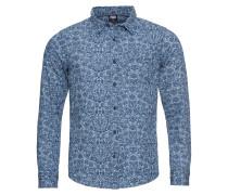 Hemd 'Printed Flower Denim Shirt'