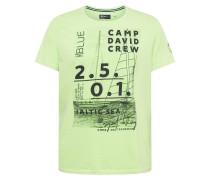 T-Shirt neongrün / schwarz