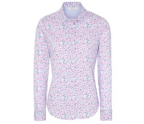 Bluse blau / hellblau / pink / weiß