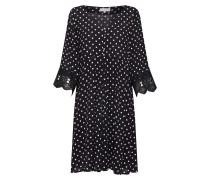 Kleid 'Bea Dot Dress' schwarz / weiß