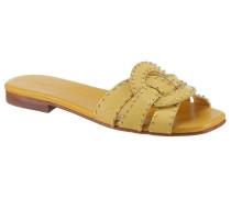 Pantolette 'Salerno' gelb