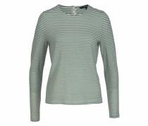 Langarmshirt 'sonia' grün / weiß