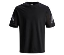 T-Shirt blau / schwarz / weiß