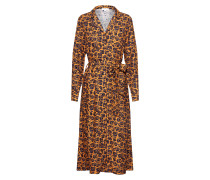 Kleid 'Vellaamo' karamell / dunkelgrün