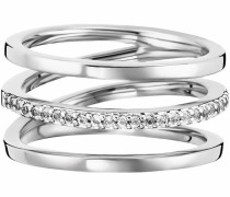 Fingerring 'fluid curves' silber