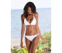 Triangel-Bikini weiß