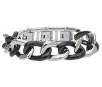 Armband 'Ceramia' schwarz / silber