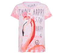 T-Shirt 'Flamingo Burn Out' pink