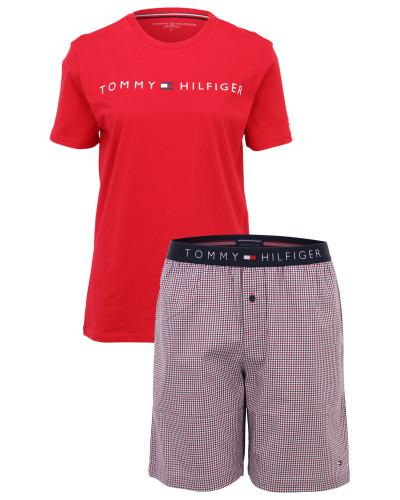 Pyjama-Set 'gingham' rot