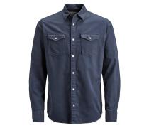 Slim Fit Langarmhemd nachtblau