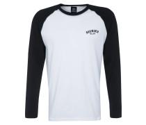 Shirt 'Baseball' schwarz / weiß