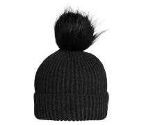 Bommelmütze 'Amola cap' dunkelgrau
