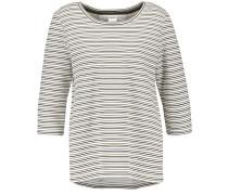 T-Shirt oliv / schwarz / weiß