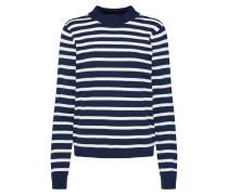 Pullover 'thess' navy / weiß