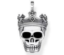 Kettenanhänger 'Totenkopf Krone'