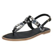 Sandalen schwarz / silber