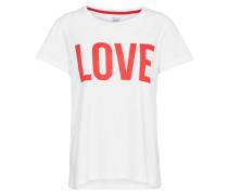 T-Shirt 'riva' rot / weiß