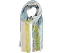 Viskose Schal beige / blau