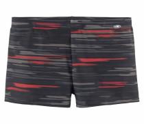 Boxer-Badehose graphit / rot / schwarz