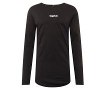 Shirt 'Salasu LS' schwarz / weiß