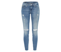 'Ankle Raw- Thermal' Jeans