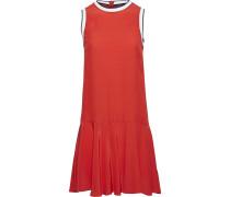 Kleid feuerrot / schwarz / weiß